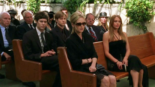 All the family at Caleb's funeral